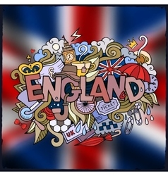 England country hand lettering and doodles vector