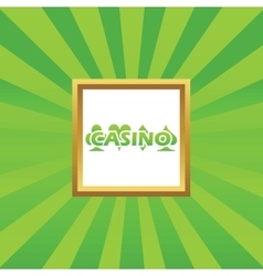 Casino picture icon vector