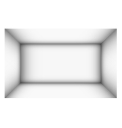 Rectangular empty room with shaded white walls vector