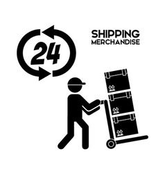 Shipping logistics of merchandise design vector