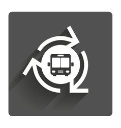 Bus shuttle icon public transport stop symbol vector