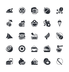 Food vegetables icons 6 vector