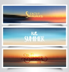 Summer themed banners vector