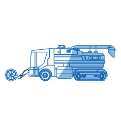 Agriculture vehicle concept - cultivation seeding vector