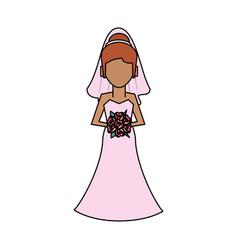 Bride avatar icon image vector