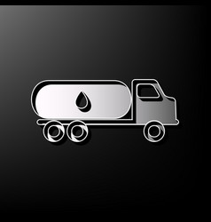 Car transports oil sign gray 3d printed vector