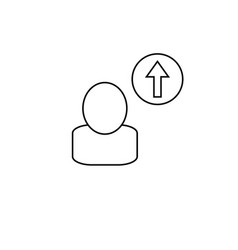 career up icon vector image vector image