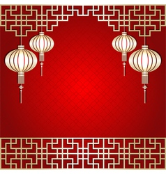 Chinese New Year Lantern Background vector image