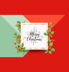 Christmas winter holly berry banner graphic vector