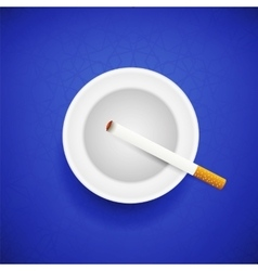 Cigarette and Ashtray vector image