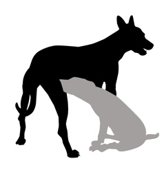 Dog and puppy vector