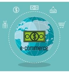 E-commerce shop online design vector