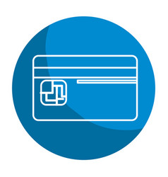 emblem credit card to save money in the bank vector image