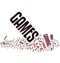 Flash games are the future text background word vector