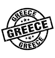 Greece black round grunge stamp vector