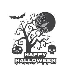 Halloween vintage badge emblem or label vector image