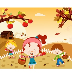 Happy harvest vector
