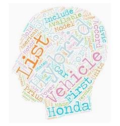 Hybrid vehicles list 1 text background wordcloud vector