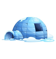 Igloo background vector image vector image