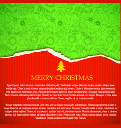 merry christmas greeting paper vector image