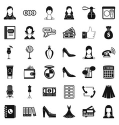 Official clothes icons set simple style vector