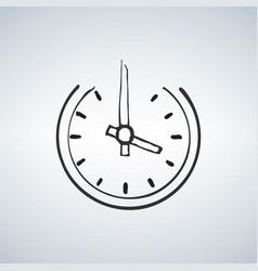 Old horologe ticker timekeeper ui emblem on white vector