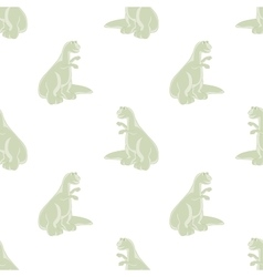 Seamless background cute dinosaurs vector