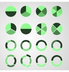 Set of diagram vector image