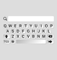 Smartphone keyboard template vector