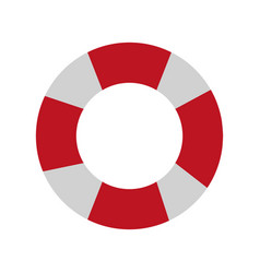 Striped float icon vector