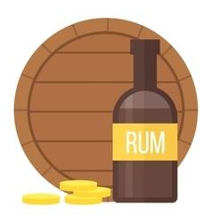 Pirate rum bottle vector image