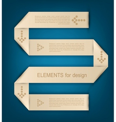 paper design element for business vector image
