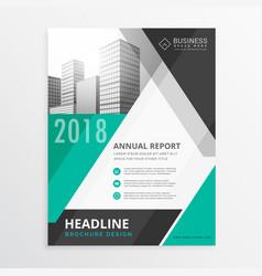 Abstract geometric business brochure flyer design vector