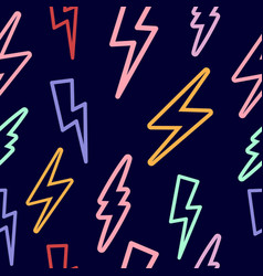 seamless texture with lightning on vector image