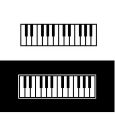 Keyboard of piano vector