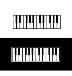 Keyboard of piano vector