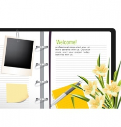Diary template vector