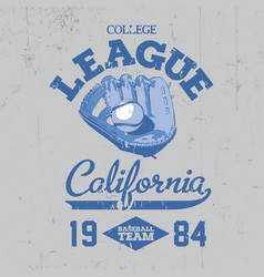 California college league poster vector