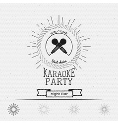 Karaoke party badges logos and labels for any use vector