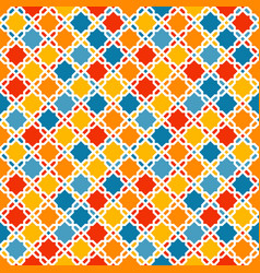 Colorful arabic pattern vector