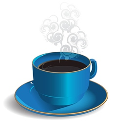 Cup with coffee vector