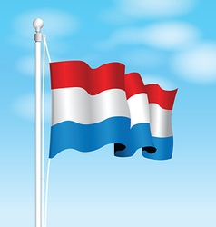 Luxembourg flag vector