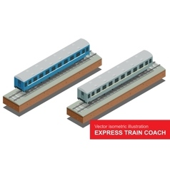 isometric of a Fast Train vector image