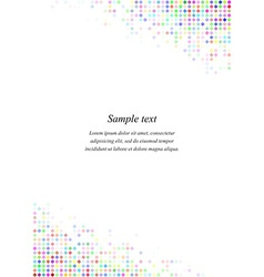 Multicolor page corner design template vector