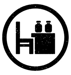 Apothecary table rounded grainy icon vector