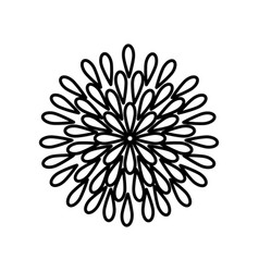 Beauiful garden flower icon vector