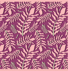 Beautiful purple leaves pattern background vector