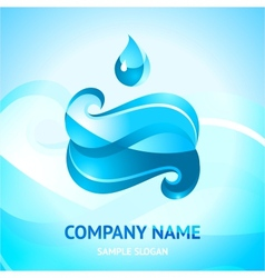 Blue water symbol vector