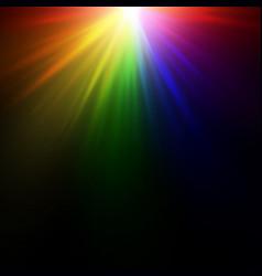 bright rainbow flash vector image vector image