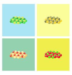 Caviar icons set vector